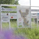 Gewerbepark Kreuzberg - Eingangsschild