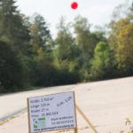 Kennzeichnung der freien Flächen im Gewerbepark am Kreuzberg